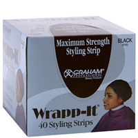 graham beauty wrapp-it styling strips - black 40 strips