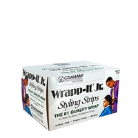 graham beauty wrapp-it jr styling strips black 9 packs of 40 strips