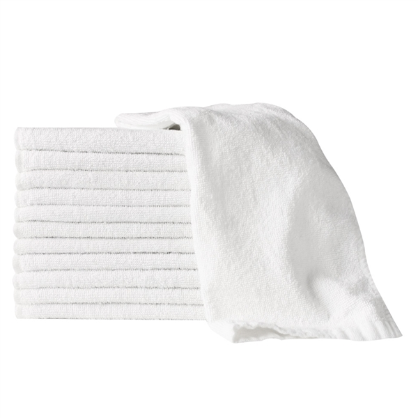 "partex essentials towels 15""x26"" white 12 pc"