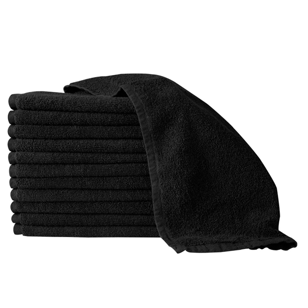 partex bleach guard towel - black 12 pack