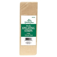 fantasea muslin epilating strips - large 100 pk.