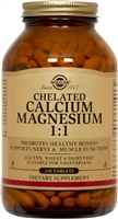 Solgar Chelated Calcium Magnesium 1:1 240 Tablets