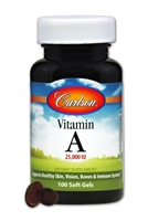 Vitamin A Natural 25,000 IU 100 Soft Gels