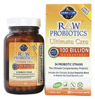 Raw Probiotics Ultimate Care 30 Vegetarian Capsules