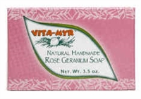Natural Handmade ROse Geranium Soap-3.5oz