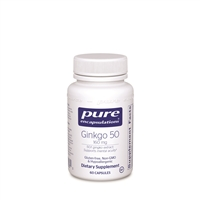 Pure Encapsulations Ginkgo 50 160 mg 120