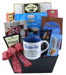 Glam-Ma Basket of treats