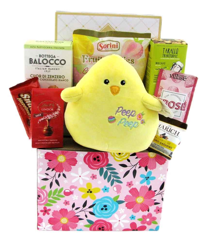 Happy easter basket glitter gift baskets happy easter basket gourmet gift negle