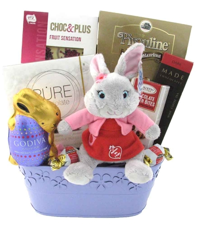 Easter gift baskets ideas glitter gift baskets bunny surprise easter basket negle Image collections