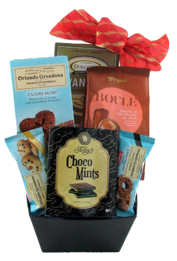Chocolate and cookie treat glitter gift baskets christmas gift baskets negle Image collections