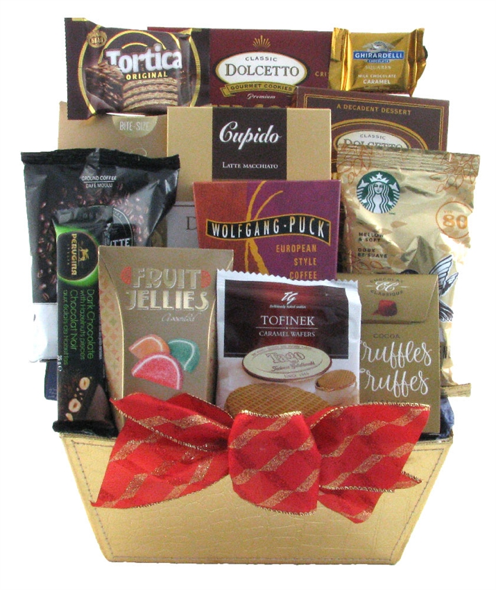 Coffee and chocolate delight glitter gift baskets coffee chocolate gift baskets negle Images