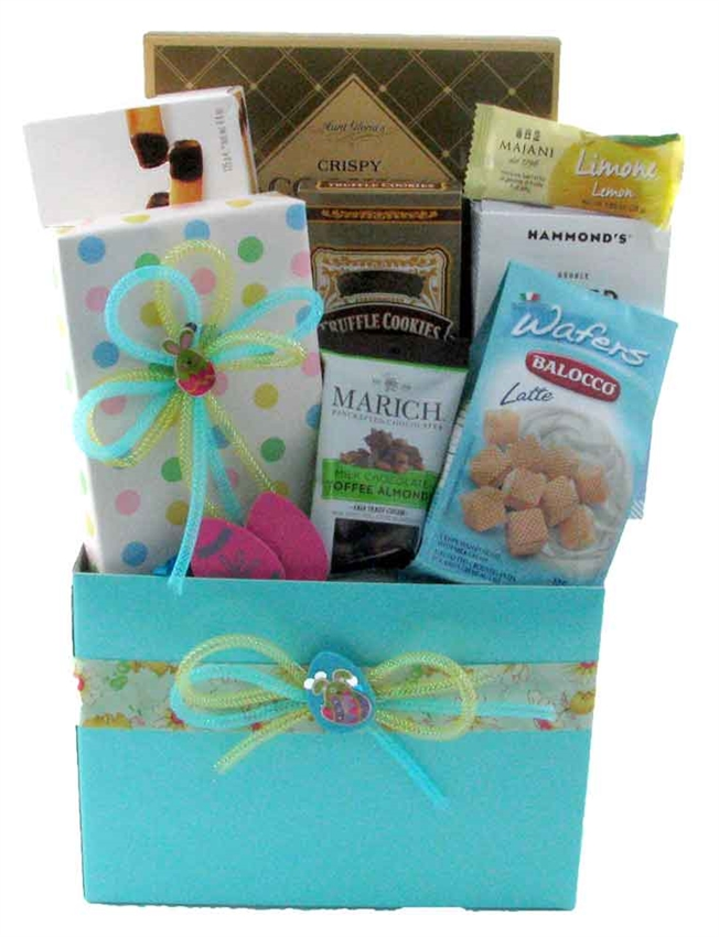 Easter delight glitter gift baskets easter baskets montreal negle Image collections