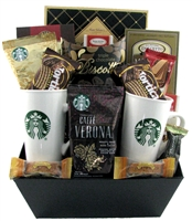 Coffee and chocolate delight glitter gift baskets starbucks gift baskets coffee gift basket negle Images