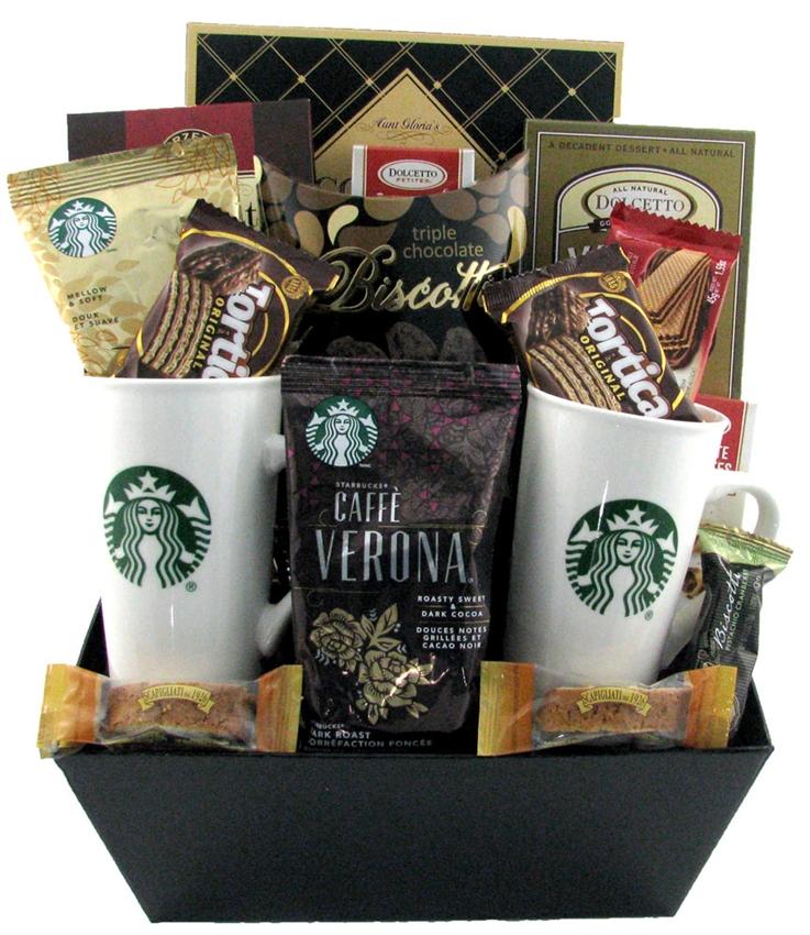 Starbucks coffee break for two glitter gift baskets starbucks gift baskets coffee gift basket negle Gallery