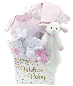 Baby gift baskets pesonalized gifts glitter gift baskets luckson baby basket negle Gallery