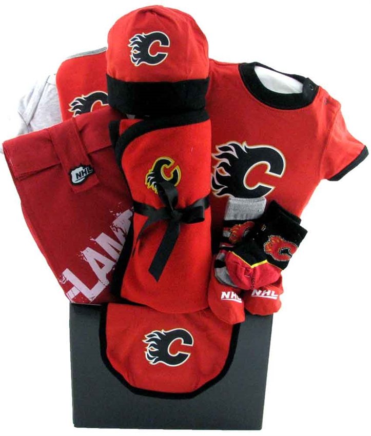 Calgary flames basket glitter gift baskets baby baskets calgary negle Gallery