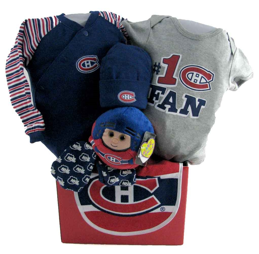 Montreal Canadiens Basket with Teddy Bear  cf798fde2d5f