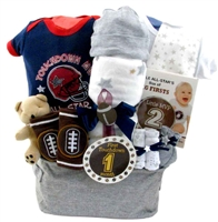 Football Themed baby basket