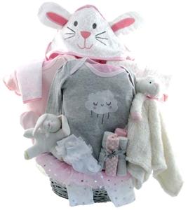 Baby gift baskets pesonalized gifts glitter gift baskets neutral baby gift baskets 2110 negle Images