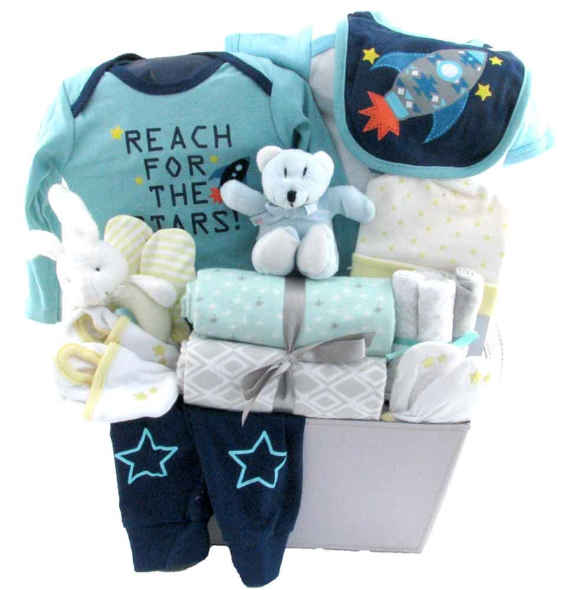 This Baby Gift Basket Includes: