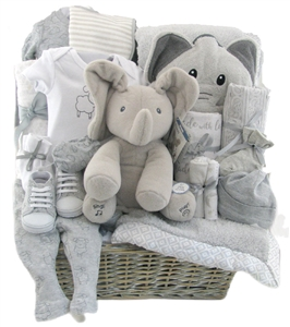 Baby boy gift baskets unique baby gifts for boys montreal baby gift lil elephant arrival negle Images