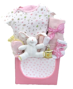 Baby gift baskets pesonalized gifts glitter gift baskets baby bunny themed baby basket negle Gallery
