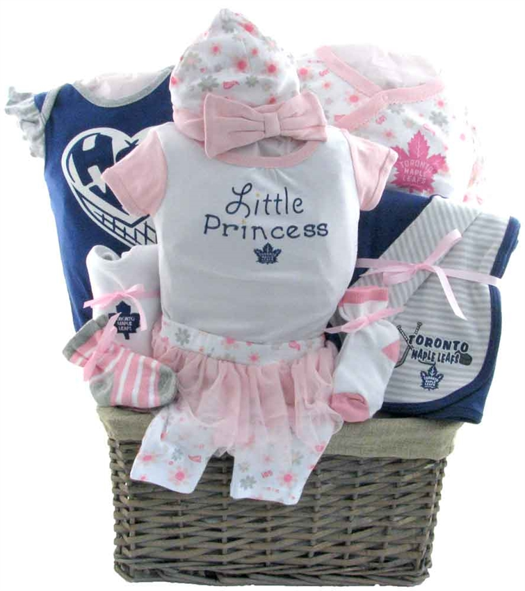separation shoes d683f f3b13 Deluxe Toronto Maple Leafs Baby Girl Basket