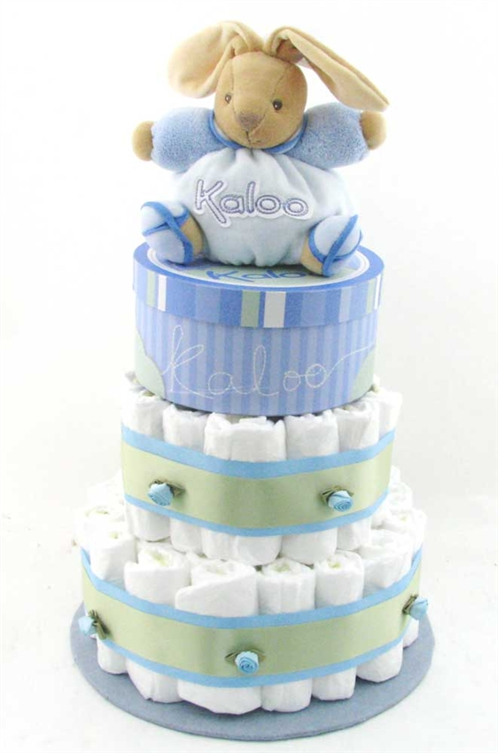 Kaloo bunny diaper cake glitter gift baskets baby shower gift negle Choice Image