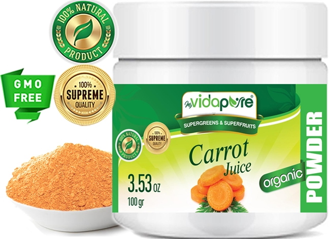 myVidaPure CARROT JUICE POWDER ORGANIC