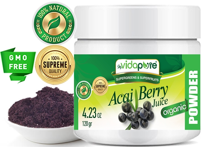 acai berry juice powder organic myvidapure