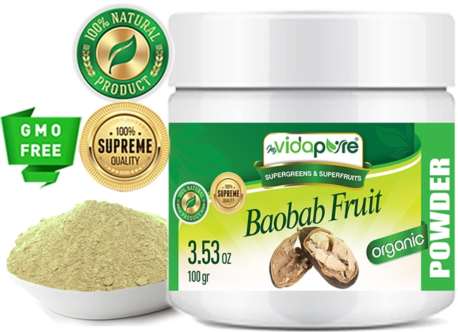 myVIDAPURE BAOBAB FRUIT POWDER ORGANIC