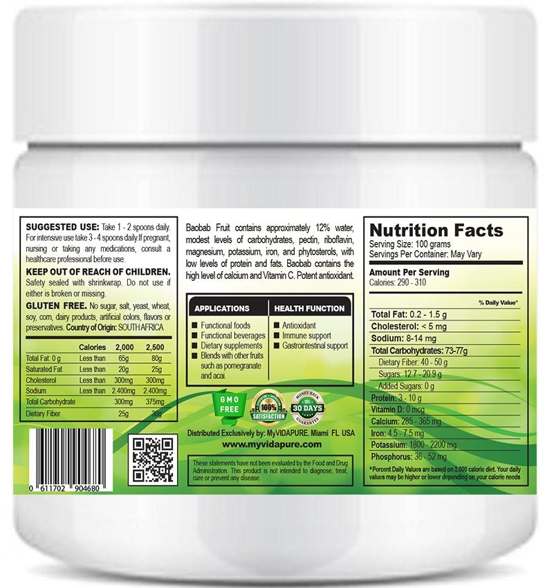 BAOBAB FRUIT POWDER ORGANIC 3 53 oz - 100 g