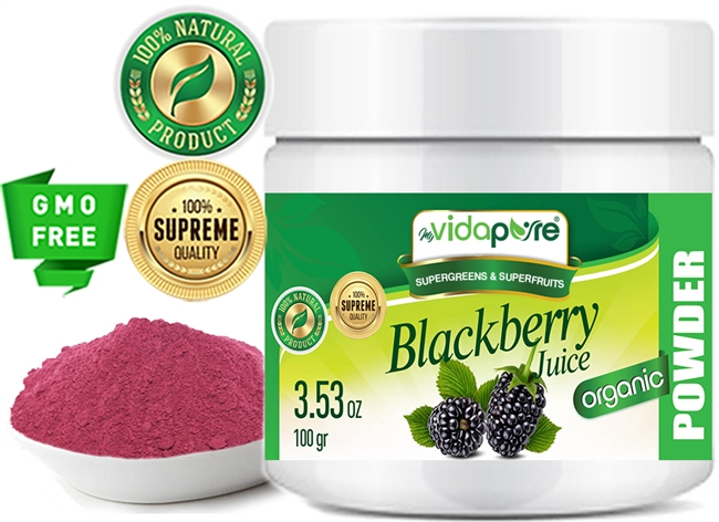 myvidapure blackberry juice powder organic