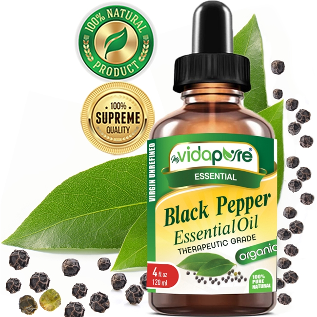 Black Pepper Essential Oil Organic myVidaPure
