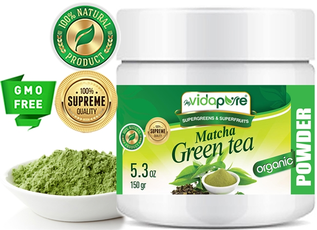Matcha Green Tea Powder Organic myvidapure