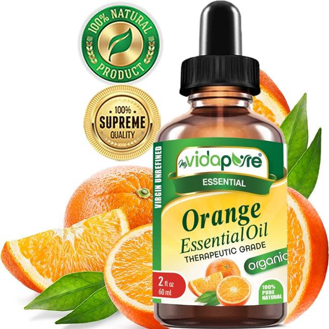 myVidaPure Organic Orange Essential Oil