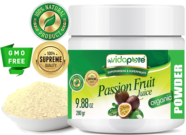 myVidaPure PASSION FRUIT JUICE POWDER ORGANIC