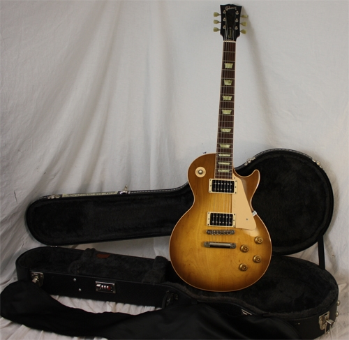 gibson les paul 1960 classic honeyburst 2005 repaired headstock. Black Bedroom Furniture Sets. Home Design Ideas