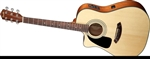 Fender CD100 CE Left-Handed Cutaway Acoustic-Electric Guitar - Natural