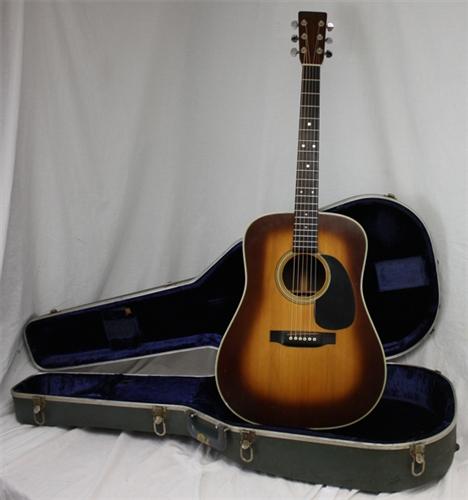 martin d 28 rare sunburst vintage acoustic guitar w pickup 1975. Black Bedroom Furniture Sets. Home Design Ideas