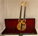 Carvin DBS98B Doubleneck Bass And Guitar  - Natural (1970s)