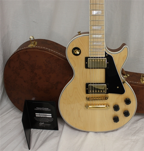 gibson custom les paul custom natural with maple fretboard 2011. Black Bedroom Furniture Sets. Home Design Ideas