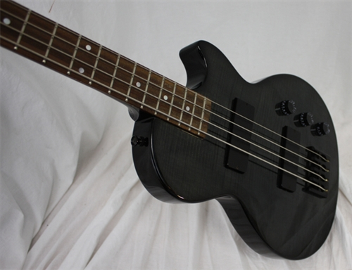 epiphone les paul special bass with flame maple top transparent black. Black Bedroom Furniture Sets. Home Design Ideas