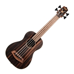 Kala U-Bass Striped Ebony Acoustic-Electric Bass Guitar