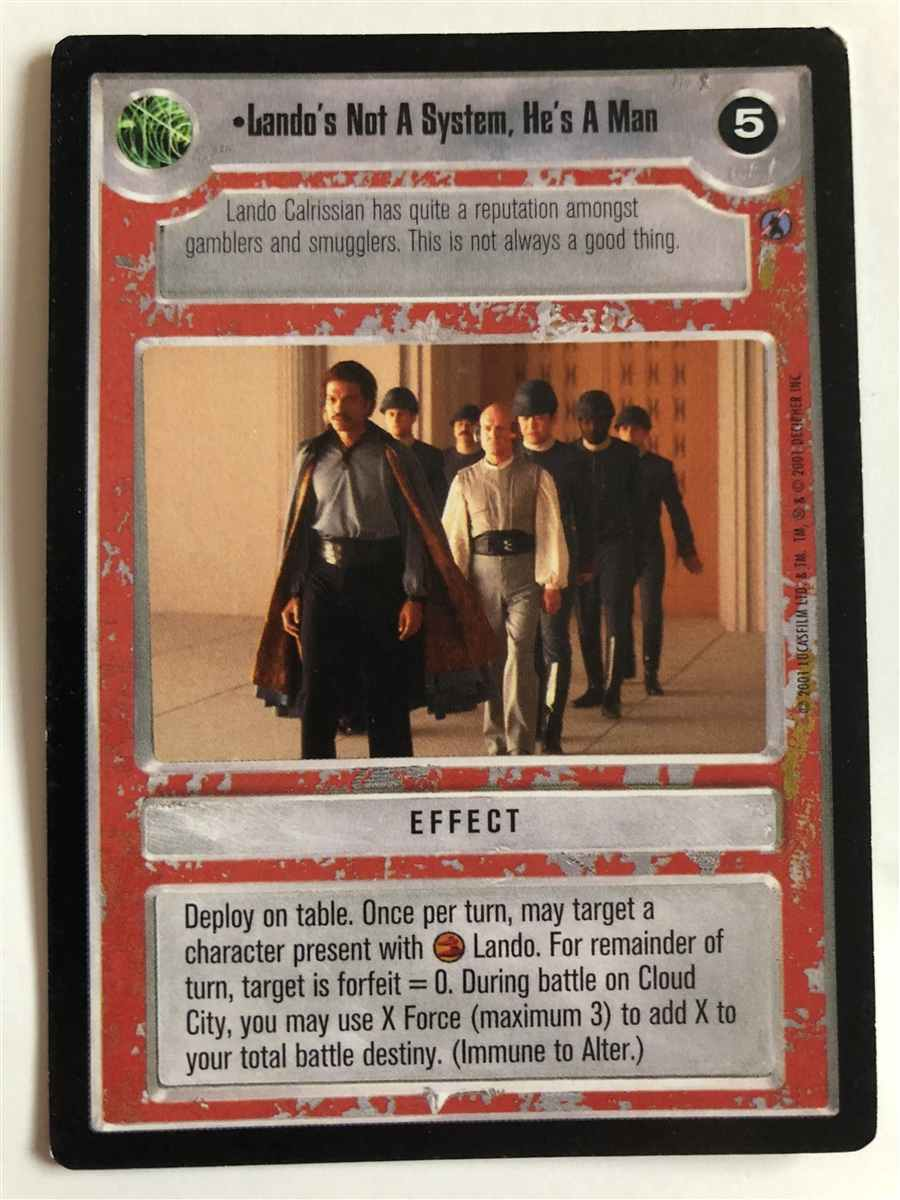 Count Me In ENDOR star wars ccg swccg Near Mint