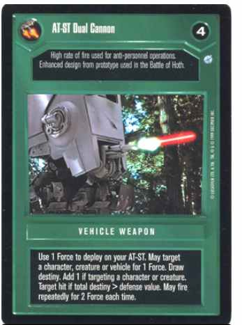 Star Wars CCG (SWCCG) AT-ST Dual Cannon