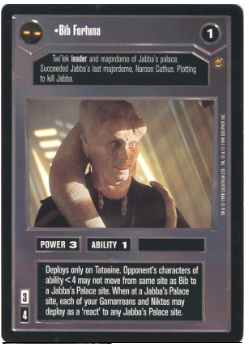 Star Wars CCG (SWCCG) Bib Fortuna