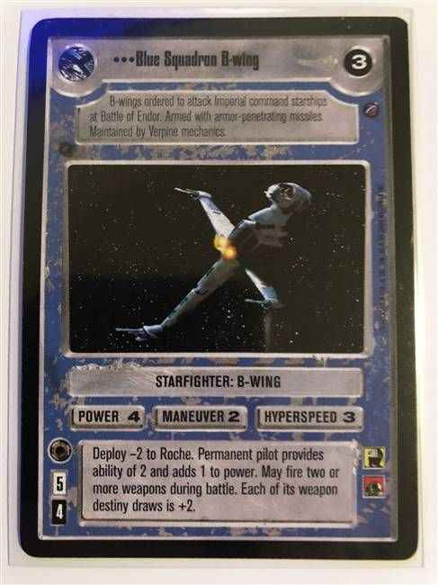 Star Wars CCG (SWCCG) Blue Squadron B-wing