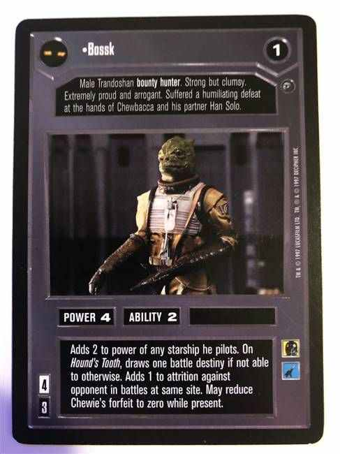Star Wars CCG (SWCCG) Bossk