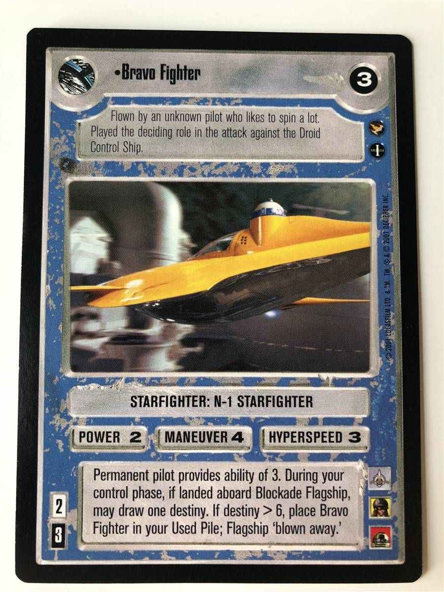 THEED PALACE star wars ccg swccg Bravo Fighter Near Mint//Mint